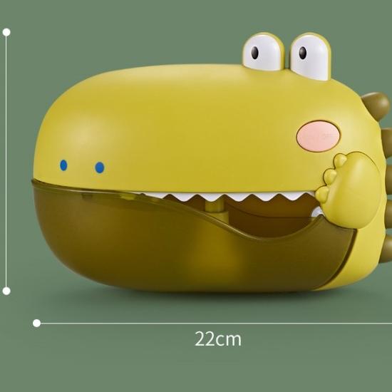 Jucarie electrica de baie bebe cu bule si ventuze Dinozaur