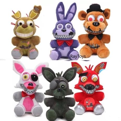 Jucarii Fnaf Set 6 plusuri Fnaf Fazbear personaje copii 25 cm