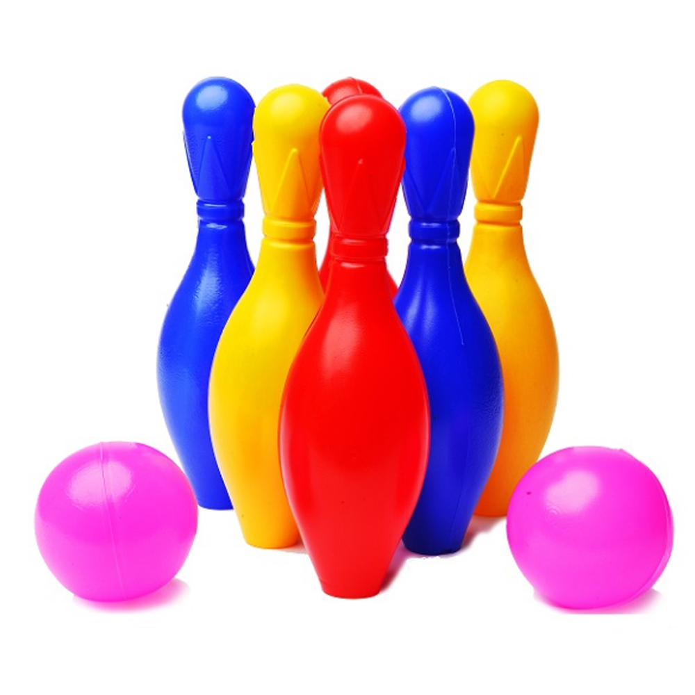 Set 6 popice cu 2 bile Jucarii copii Bowling