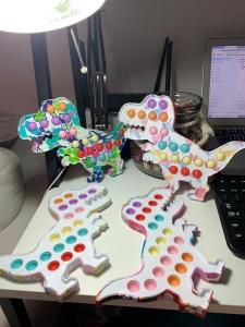 Dragon Pop It cu bule din silicon Jucarie antistres copii