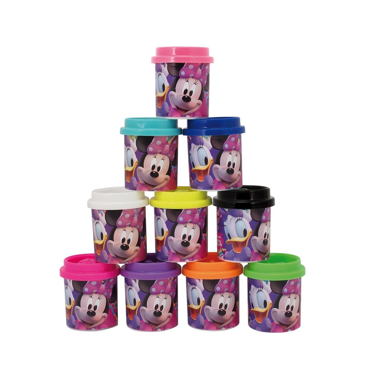 Set plastilina 10 culori pentru copii Minnie Mouse