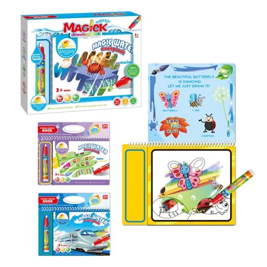 Carte magica de colorat cu apa Desen cu marker reutilizabil