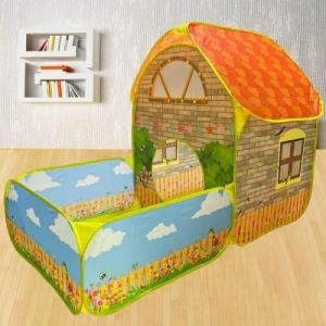Cort de joaca Casuta cu gradina si Piscina pentru copii