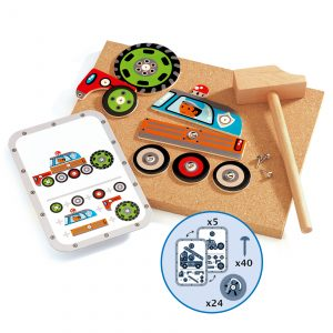 Garaj din lemn copii Vehicule de asamblat Tap Tap Djeco