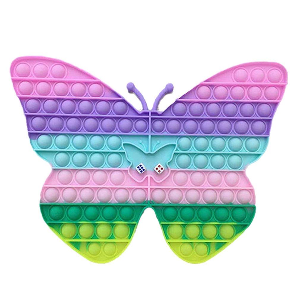 Jucarie Jumbo Fluturele cu zaruri Joc Pop It matematic silicon