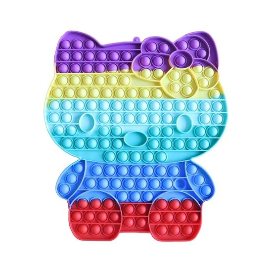 Jucarie Jumbo Pop It Hello Kitty din silicon antistres