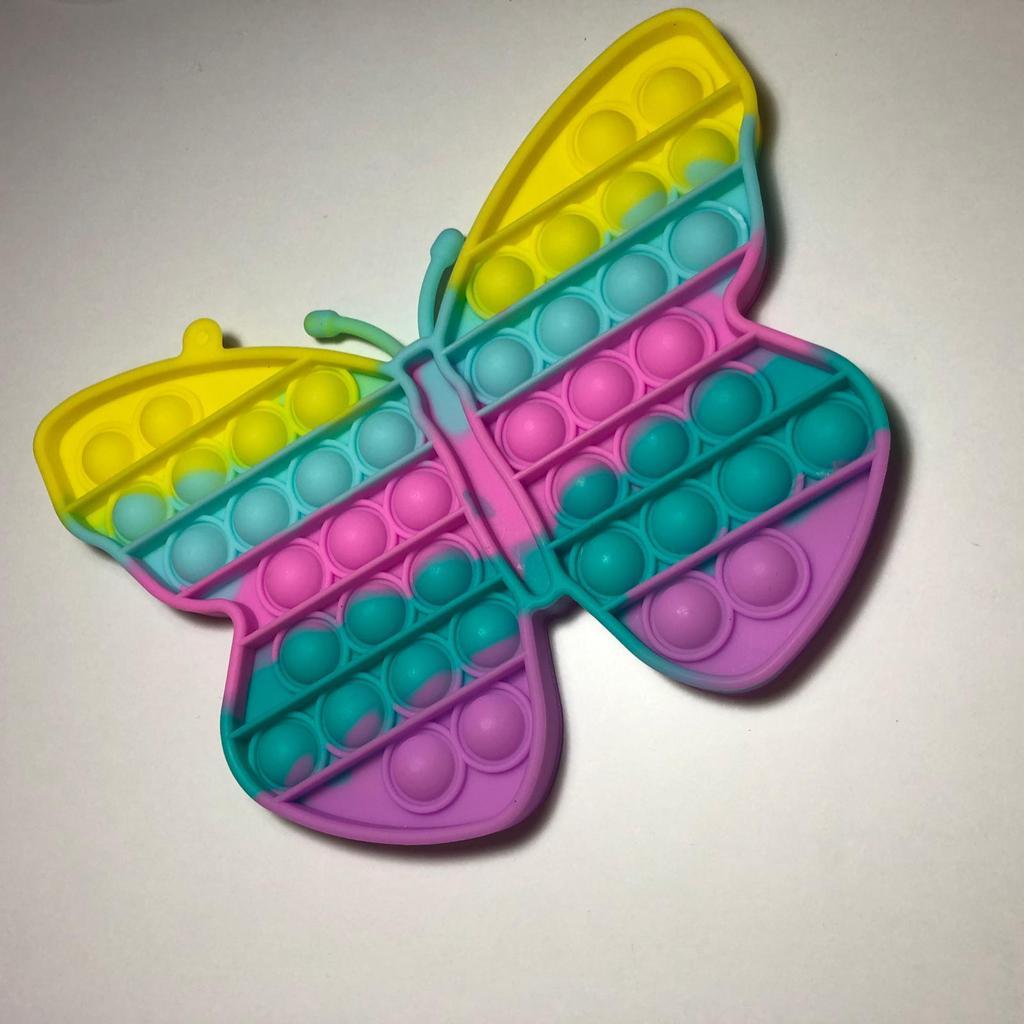 Jucarie Pop It Fluture Pastel silicon Push Bubble antistres