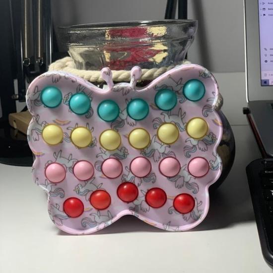 Jucarie Pop It Fluture antistres colorat Push Bubble Fidget