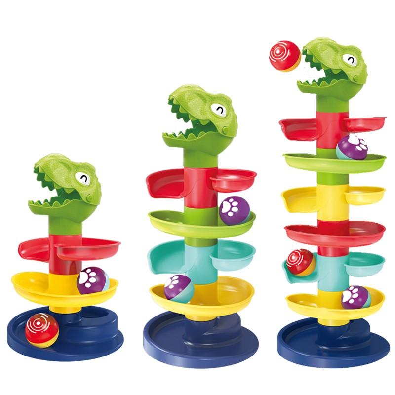 Jucarie interactiva bebe Circuit cu bile Dinozaur