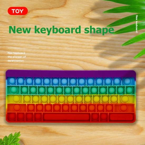Jucarii Tastatura birou Pop It silicon antistres copii