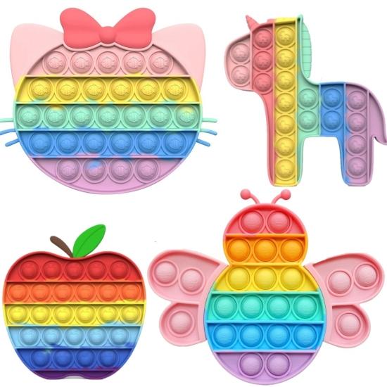 Jucarii colorate Curcubeu Animale Pop It antistres silicon