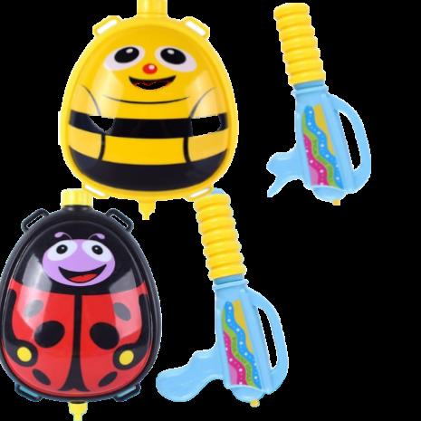Pistol cu apa copii si rezervor model ghiozdan Insecte