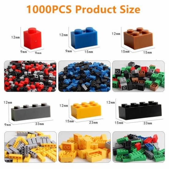 Set cuburi lego constructie 1000 piese Blocuri de construit