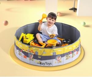Tarc de joaca captusit pentru copii fara asamblare cu desene