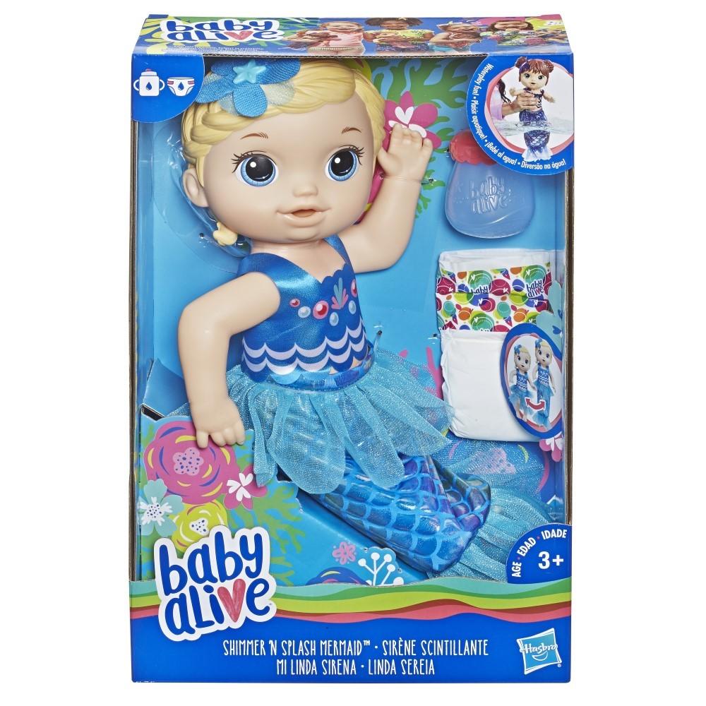 Bebelusul Baby Alive pregatita pentru balaceala cu biberon