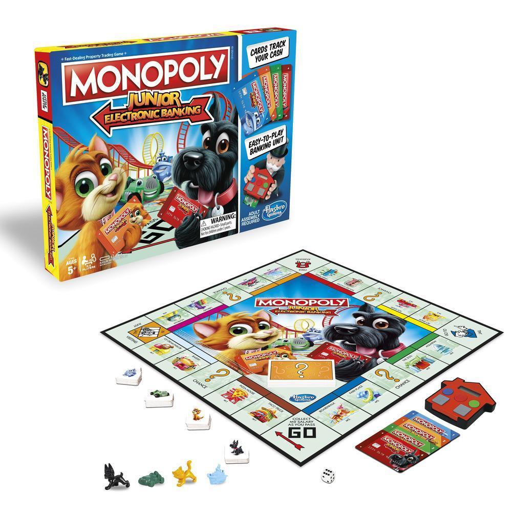 Monopoly junior copii banca electronica limba romana Hasbro