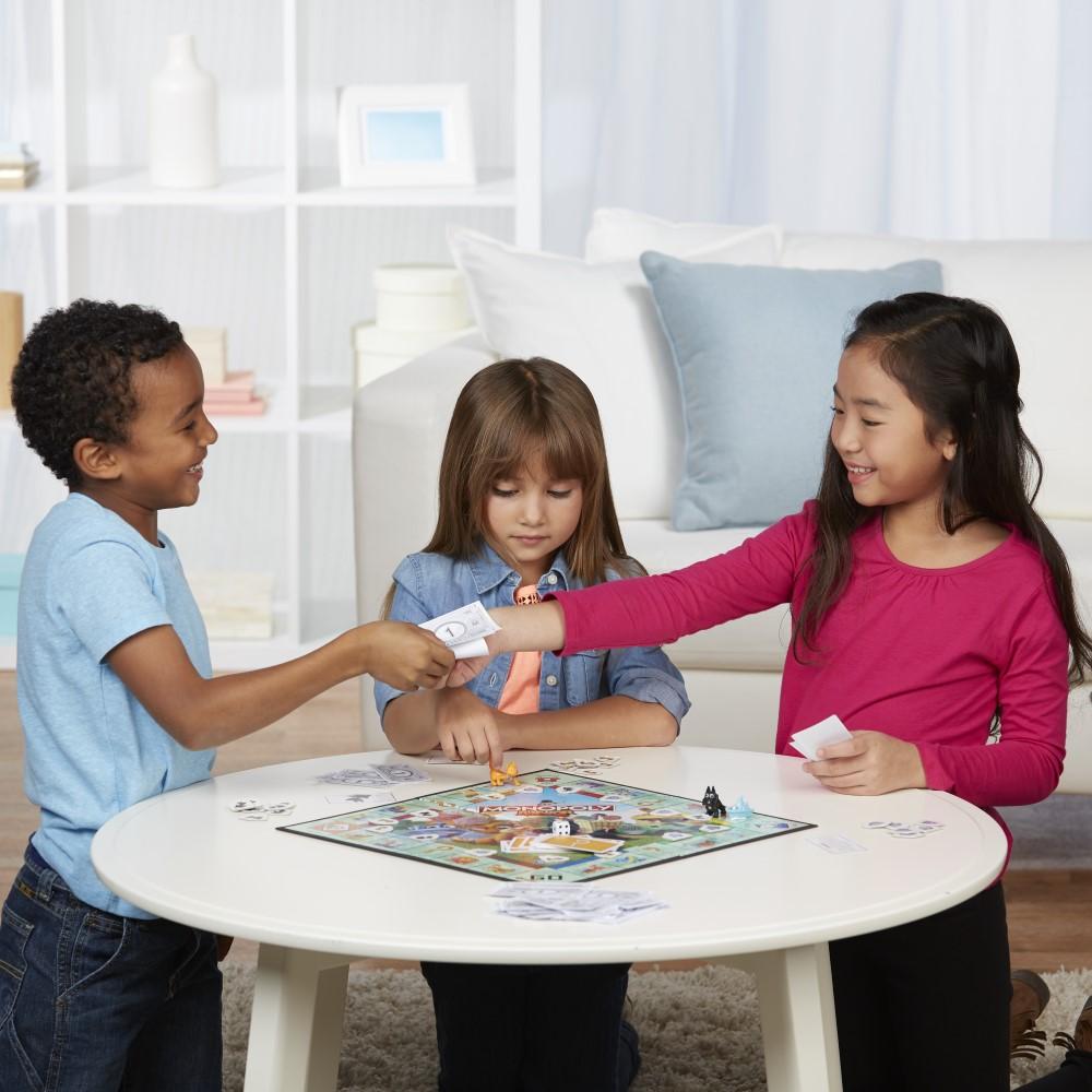Monopoly copii junior cu pioni animalute limba romana