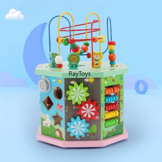 Cub educativ muzical Centru de activitati 10 in 1 Montessori