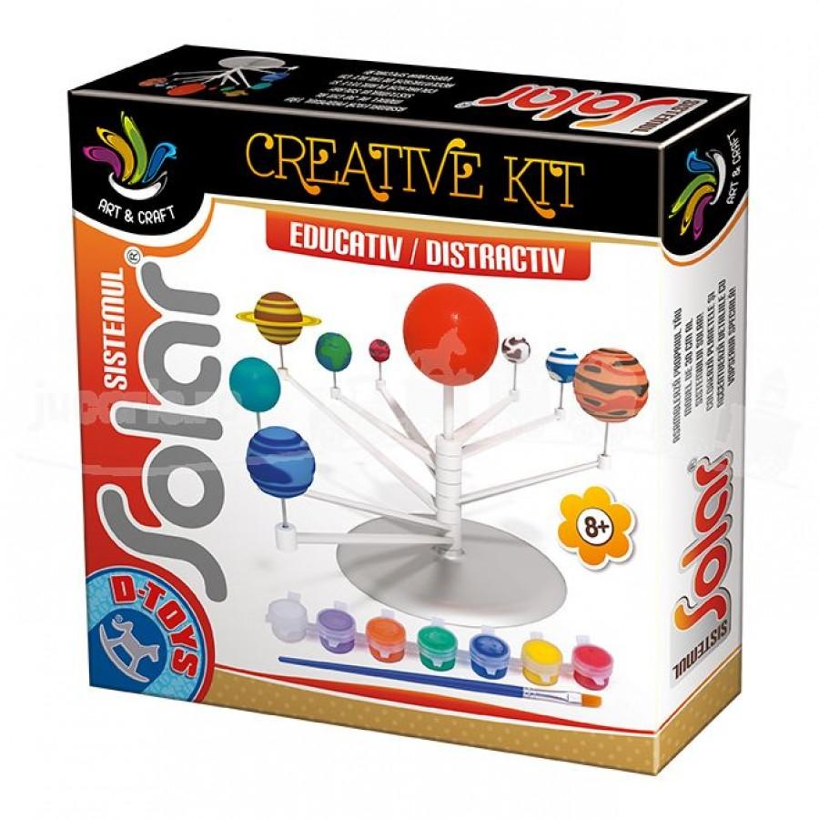 Joc educativ Sistemul Solar Set creativ cu 9 planete D-Toys