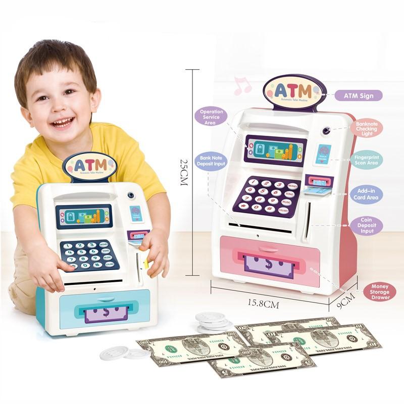 Jucarie bancomat electric cu lumini si sunete copii ATM