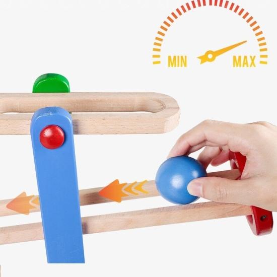Pista cu bile din lemn Circuit cu 4 etaje Montessori Onshine