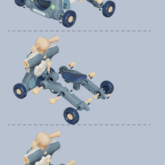 Antepremergator Motocicleta si Centru de activitati copii 3 in 1