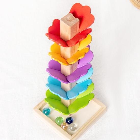 Arborele Montessori cu frunze Copacul Rainbow muzical lemn