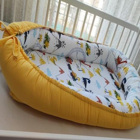 Cosulet bebelus Anotimpuri pentru somn relaxant Baby nest