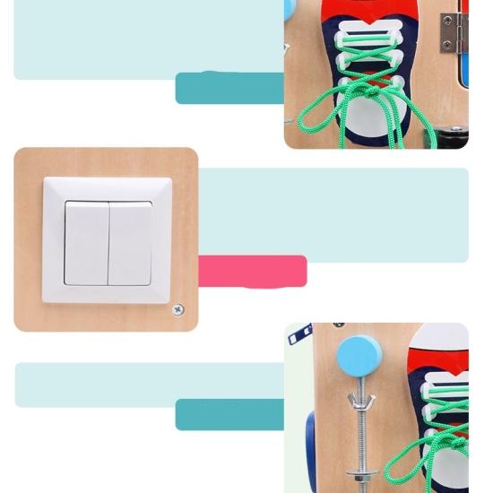Cub multifunctional Montessori cu activitati educative din lemn