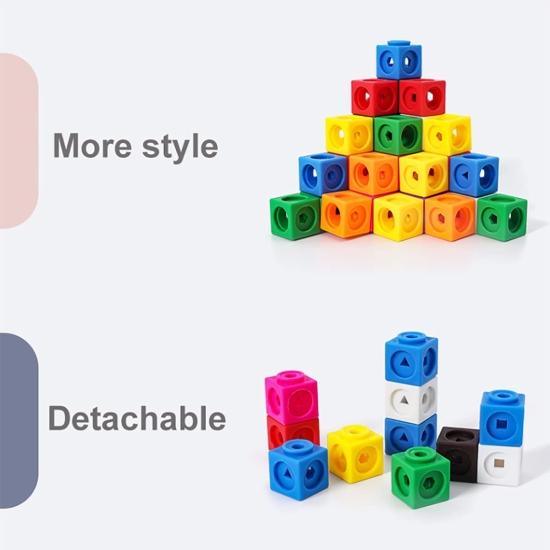 Cuburi de construit si calcule matematice Joc educativ Onshine
