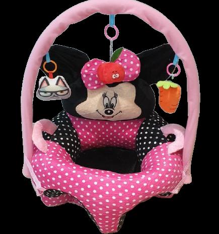 Fotoliu buline Sit Up Minnie Mouse cu arcada din plus