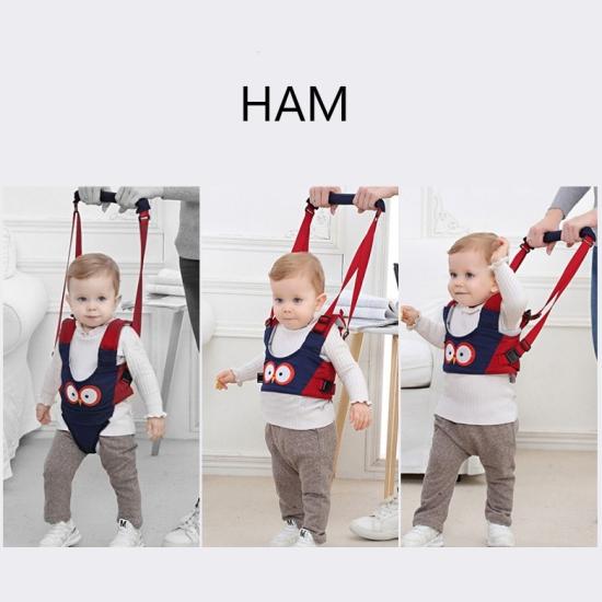 Ham bebe pentru primii pasi Bleumarin 2in1 Accesoriu de mers