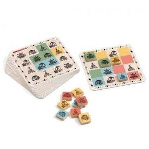 Joc Sudoku cu simboluri din lemn copii Djeco1