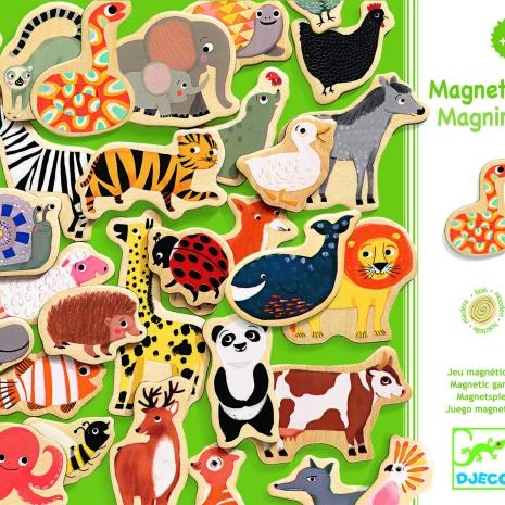 Joc creativ magnetic Animale domestice si salbatice Djeco