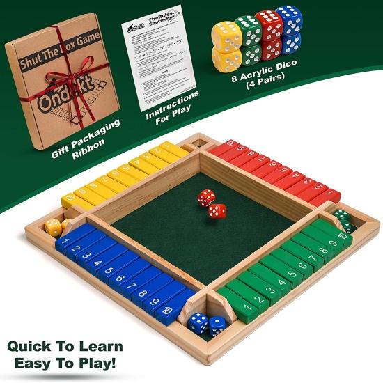 Joc traditional matematic copii si adulti Tabla de masa cu zaruri