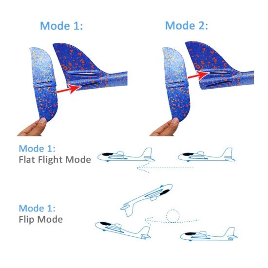 Jucarie Avion din spuma EVA cu lumini Led multicolore