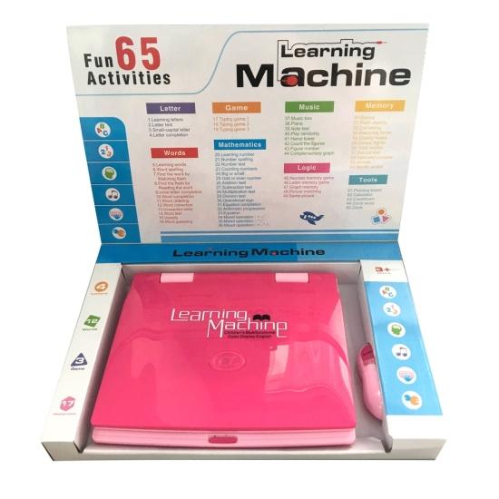 Jucarie educativa copii Laptop Ecran LCD mouse si 65 activitati