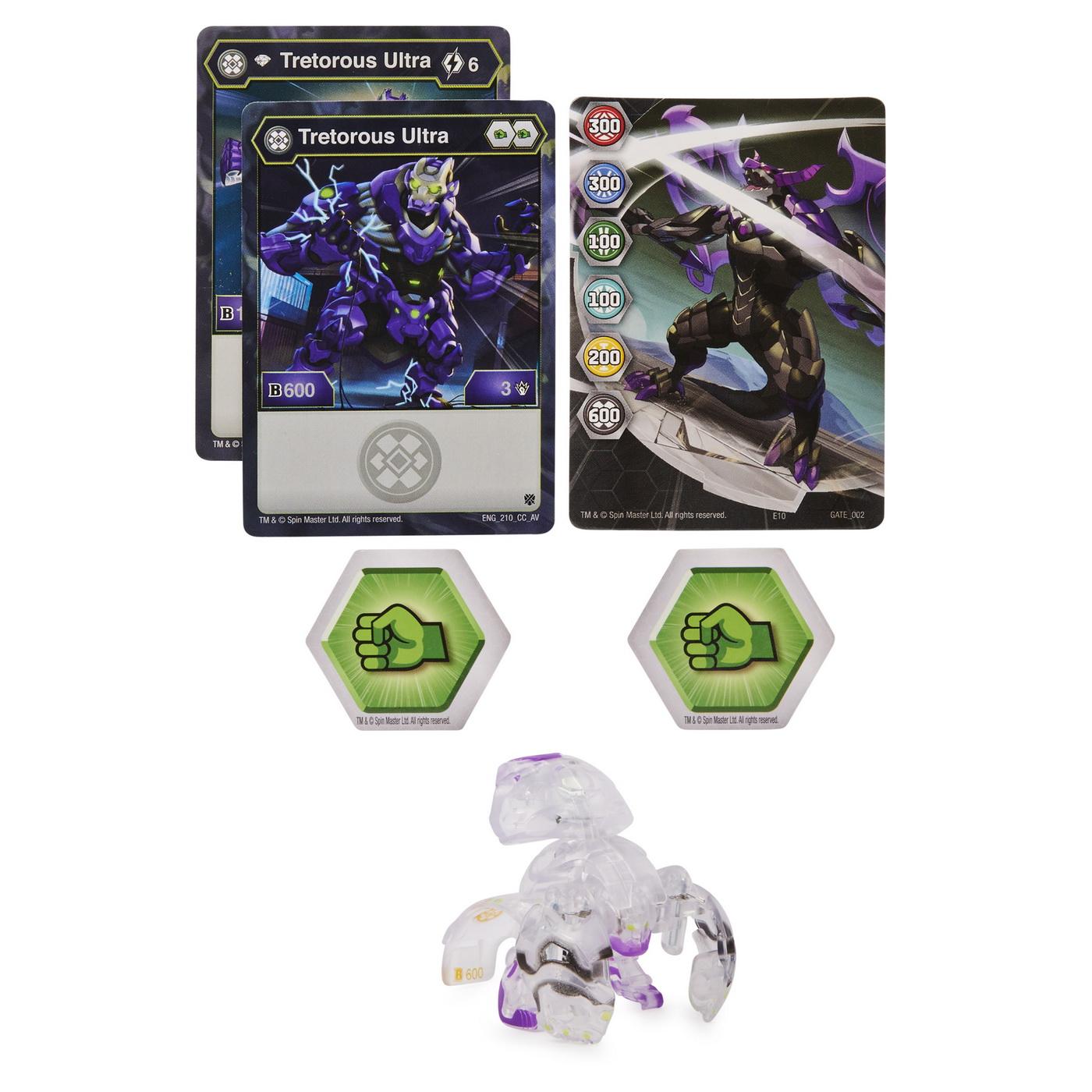 Jucarii copii Bakugan S2 bila Ultra Tretorous cu card Baku-Gear