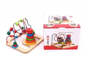 Labirint cu bile Abac Forme geometrice si Turn Rainbow