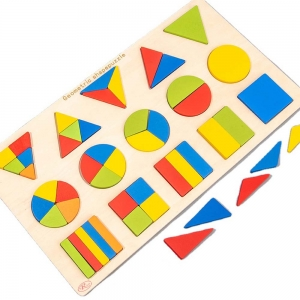 Puzzle Montessori forme geometrice Geometria intregului