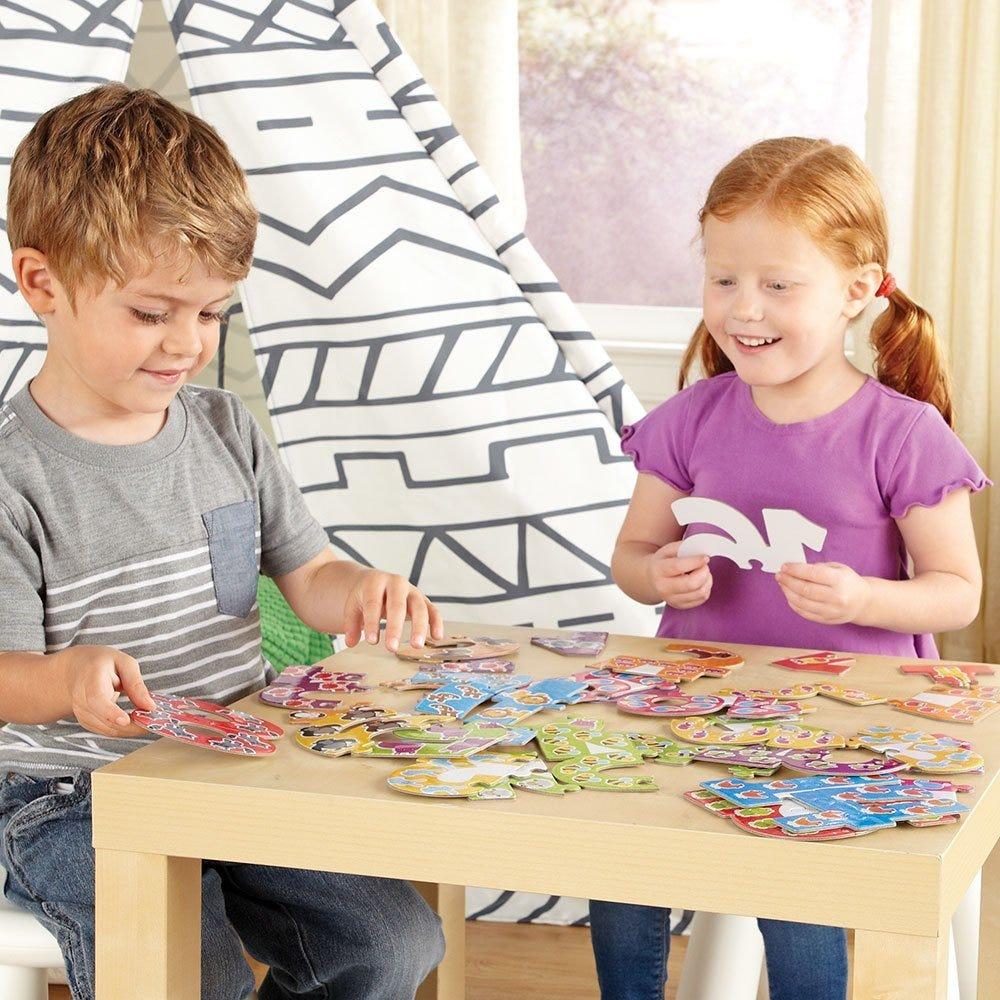 Puzzle din carton cifre mari cu animatie din 2 piese 1 - 20