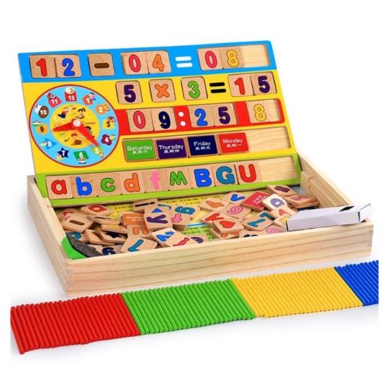 Tabla educativa cu Cifre Litere Betisoare si Operatii matematice