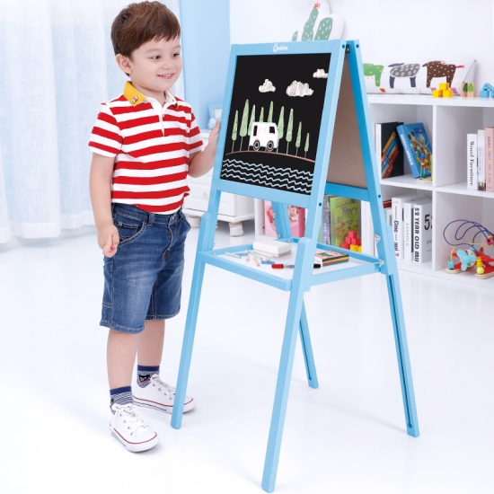 Tabla sevalet magnetica lemn colorat cu 2 fete copii Onshine
