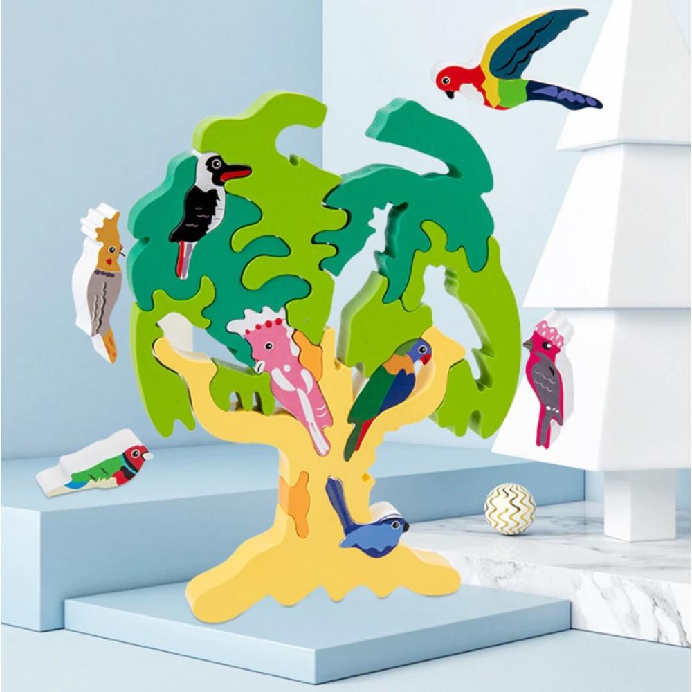 joc-montessori-copacul-cu-pasari-colorat-puzzle-3d