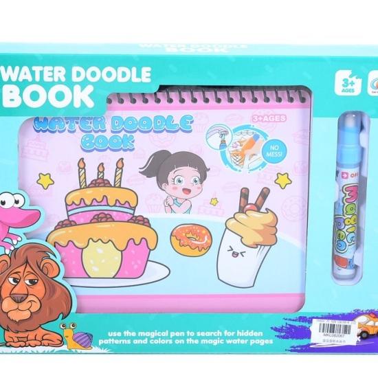 Cartea magica Water Book de colorat marker cu apa