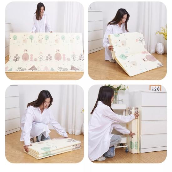 Covor joaca bebe Masini pliabil XPE cu 2 fete 150X200cm