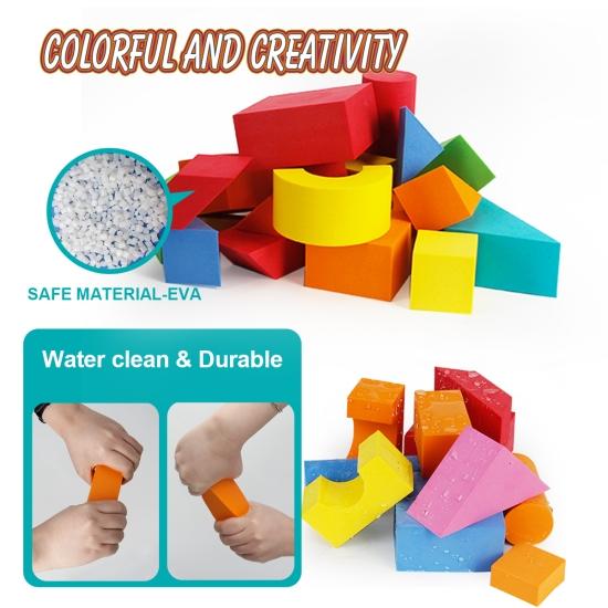 Cuburi Forme geometrice moi din spuma EVA colorate 72pcs
