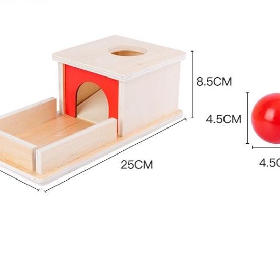 Cutia Permanentei Jucarie Montessori pentru copii din lemn