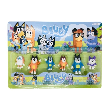 Figurine Bluey si Bingo cu Prietenii Set 6 jucarii copii