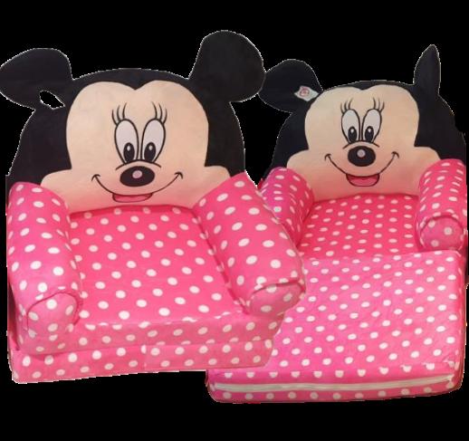 Fotoliu extensibil Roz cu buline Minnie Mouse Disney 80 cm